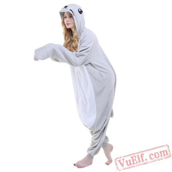 Grey Seal Onesie Costumes / Pajamas for Adult - Kigurumi Onesies