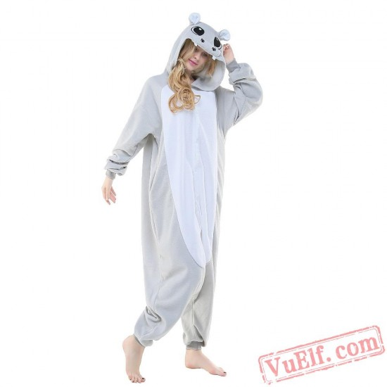 Grey Hippo Onesie Costumes / Pajamas for Adult - Kigurumi Onesies