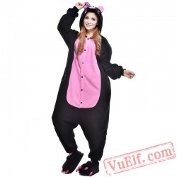 Cartoon Black Pig Onesie Costumes / Pajamas for Adult - Kigurumi Onesies