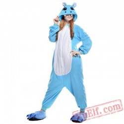 Blue Hippo Onesie Costumes / Pajamas for Adult - Kigurumi Onesies