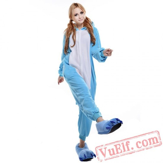 Blue Hippo Onesie Costumes / Pajamas for Adult - Kigurumi Onesies