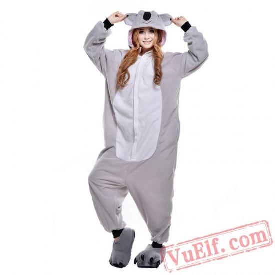 Grey Koala Onesie Costumes / Pajamas for Adult - Kigurumi Onesies