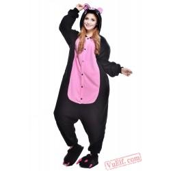 Black Pink Pig Onesie Costumes / Pajamas for Adult - Kigurumi Onesies