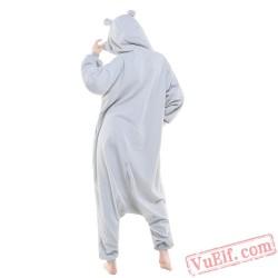 Blue Pink Gray Hippo Onesie Costumes / Pajamas for Adult - Kigurumi Onesies