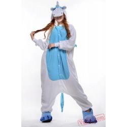 Blue Pink Flying Horse Onesie Costumes / Pajamas for Adult - Kigurumi Onesies
