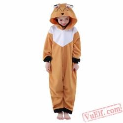 Brown Fox Onesie Costumes / Pajamas for Kids - Kigurumi Onesies