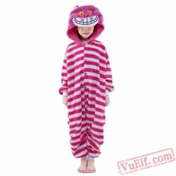 Cartoon Cheshire Cat Onesie Costumes / Pajamas for Kids - Kigurumi Onesies