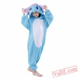 Blue Elephant Onesie Costumes / Pajamas for Kids - Kigurumi Onesies