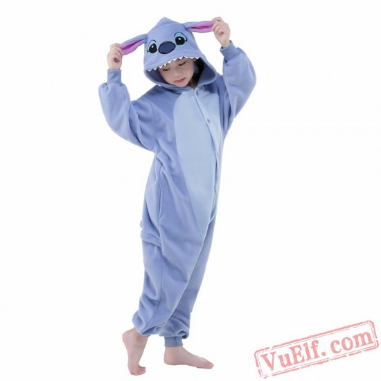 Blue Stitch Onesie Costumes / Pajamas for Kids - Kigurumi Onesies
