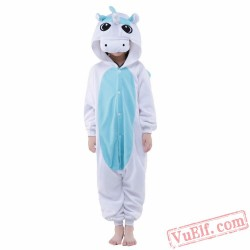 Blue Unicorn Onesie Costumes / Pajamas for Kids - Kigurumi Onesies