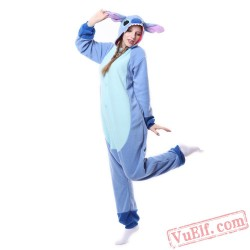 Blue Stitch Pajamas Adult Kigurumi Onesie Costumes