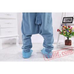 Blue Owl Kigurumi Onesie Pajamas,Animal Onesies Costumes