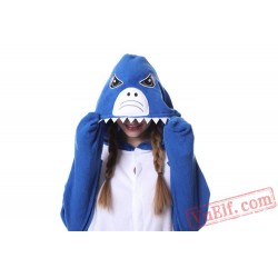 Blue Shark Onesie Pajamas Adult Animal Kigurumi Onesies