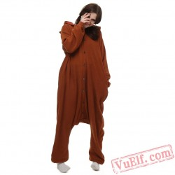 Brown Bear Kigurumi Pajamas Animal Onesies Costumes