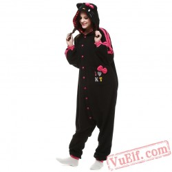 Black Cat Kigurumi Onesie Pajamas Animal Onesies Costumes
