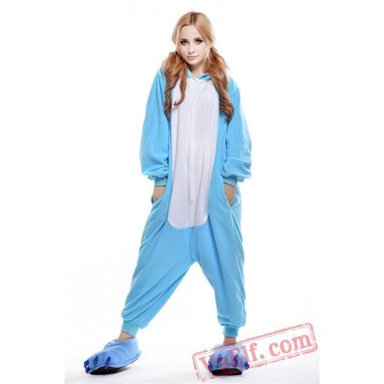 Blue Hippo Onesie Pajamas Animal Kigurumi Onesies
