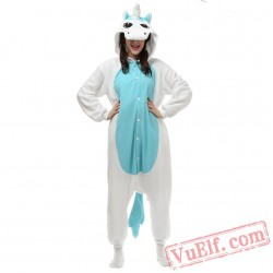 Blue Unicorn Kigurumi Onesies Adult Onesie Costumes