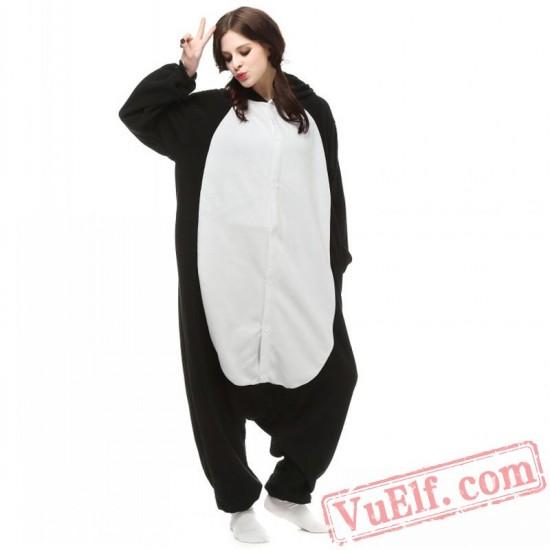 Black Penguin Onesie Pajamas Adult Animal Kigurumi Costumes