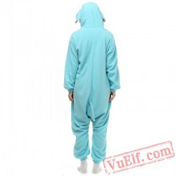 Blue Elephants Onesie Pajamas Kigurumi Costumes