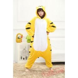 Yellow Tiger Onesie Pajamas Adult Kigurumi Onesies