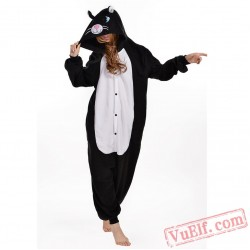 Black Cat Kigurumi Onesie Pajama Costumes Animal Onesies