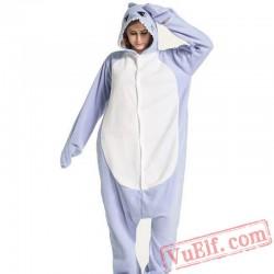 Blue Shark Kigurumi Onesie Pajamas Animal Costumes
