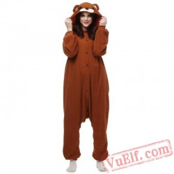 Brown Pedo Bear Onesie Pajamas Animal Kigurumi Costumes