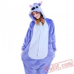 Blue Pink Stitch Onesie Pajamas Adult Kigurumi Costumes