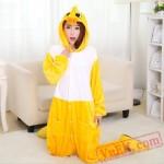 Adult Animal Onesies,Yellow Duck Kigurumi Pajama Costumes