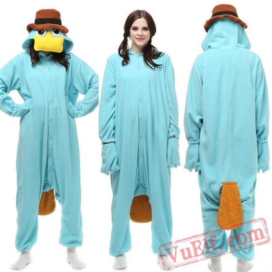 Platypus Onesie Pajamas Animal Kigurumi Costumes