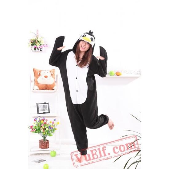 Black Penguin Onesie Pajamas Adult Animal Onesie Costumes