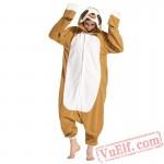 Adult Animal Onesies Pajamas Tree Sloth Costume