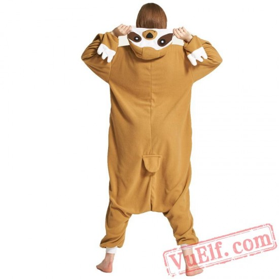 Adult Animal Onesies Pajamas Tree Sloth Costume