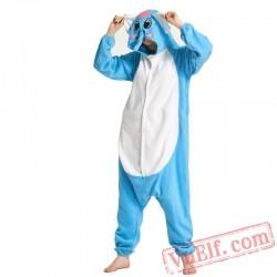 Blue Elephant Kigurumi Onesie Adult Pajamas Costumes