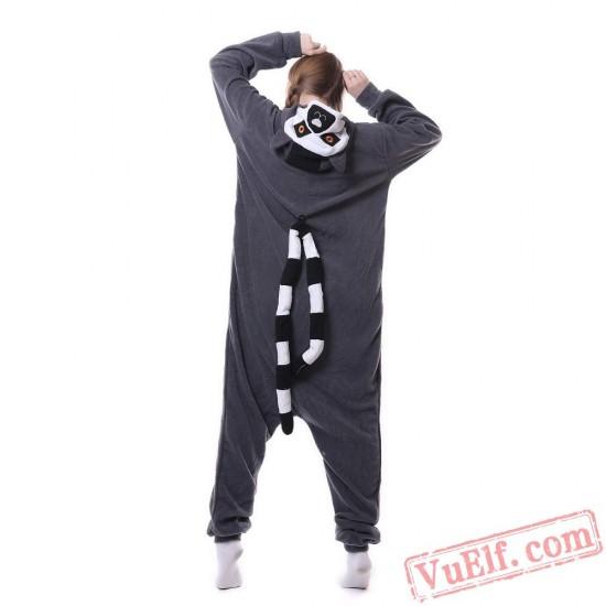 Adult Animal Onesies Lemur Kigurumi Onesies Pajamas Costumes