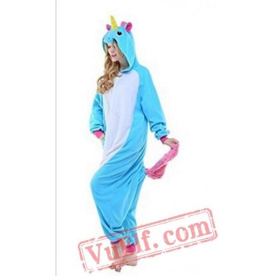 Adult Cartoon Unicorn Kigurumi Onesiee Pajama Costumes