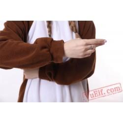 Brown Squirrel Kigurumi Onesie Pajamass Adult Animal Onesies