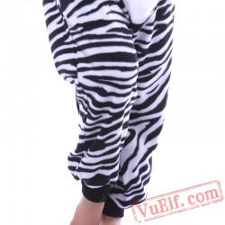 Zebra Kigurumi Onesie Pajamas,Adults Animal Onesie Costumes