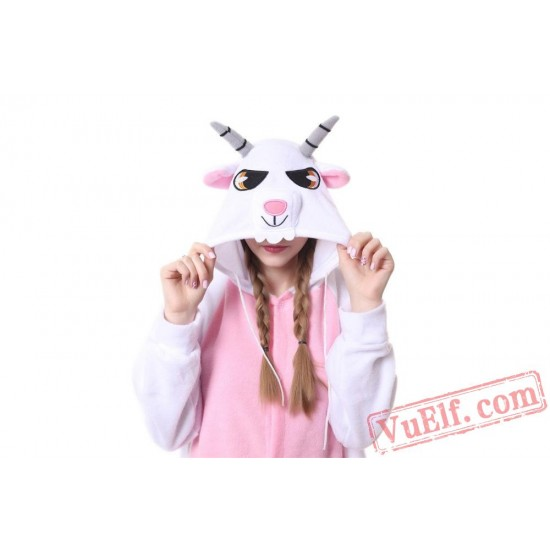 Adult Goat/Sheep Onesie Pajamas,Animal Kigurumi Onesie Costumes