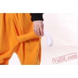 Adult Unisex Orange Fox Kigurumi Onesies Pajamas Costumes