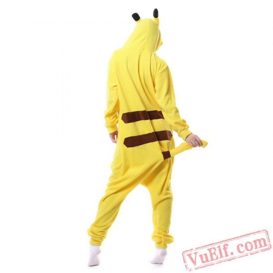 Adult Animal Pikachu Kigurumi Onesies Pajamas Costume