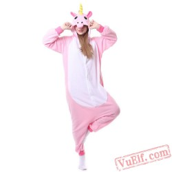 Blue & Pink Unicorn Kigurumi Onesie Pajamas Animal Onesies Costume