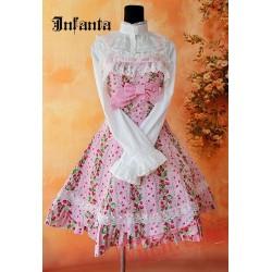 Pink Sweet Bows Lace Lolita Jumper