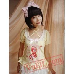 Light Yellow Happy Berry Sweet Lolita Dress