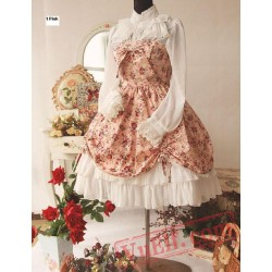Spring Fragrance Wild Rosy Blouse Lolita Dress