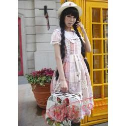 Pink Gingham Bow Lolita Jumper