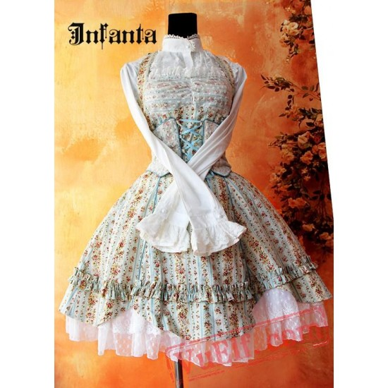 Sweet Floral Camouflage Lolita Jumper Dress