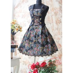 Vintage Lolita Sleeveless Flower Lolita Dress