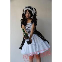 White Black Classic Lolita Dress
