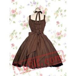 Classic Brown Cotton Lolita Dress